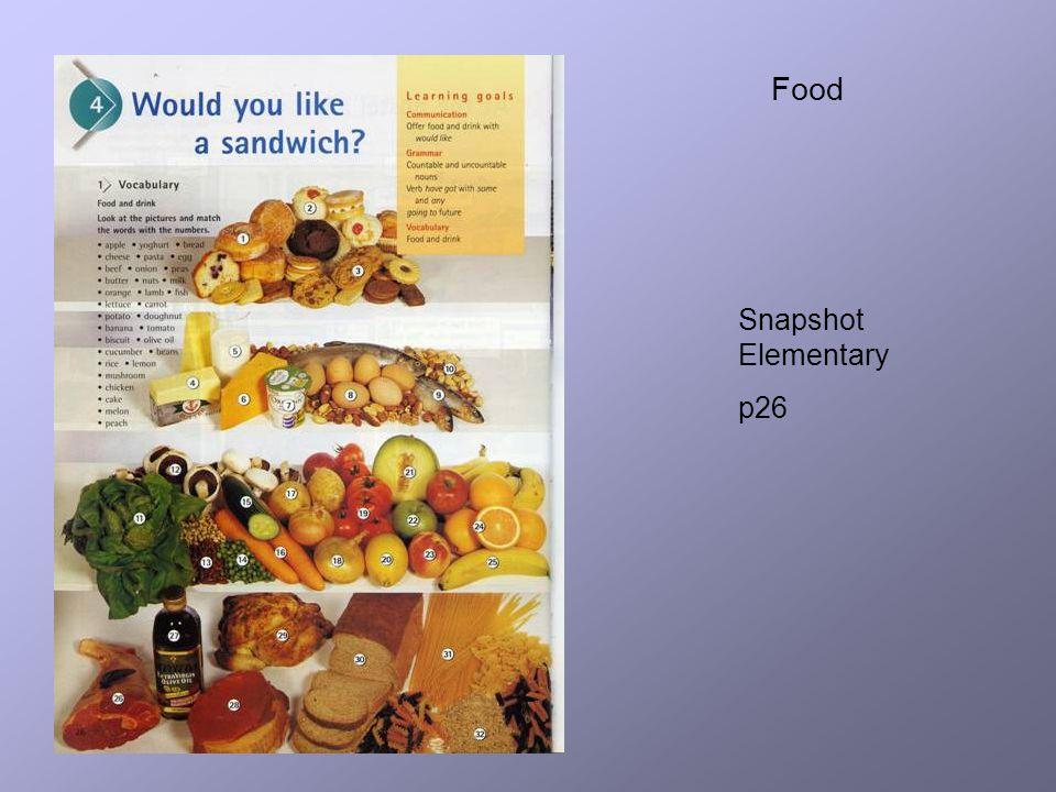 Food Snapshot Elementary p26