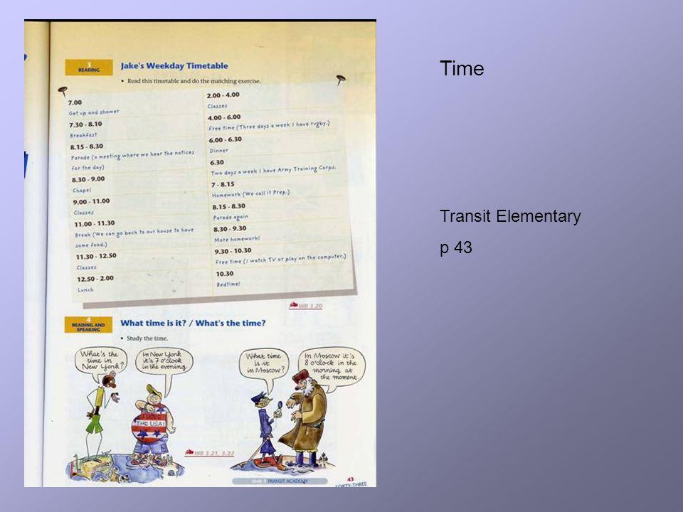 Time Transit Elementary p 43
