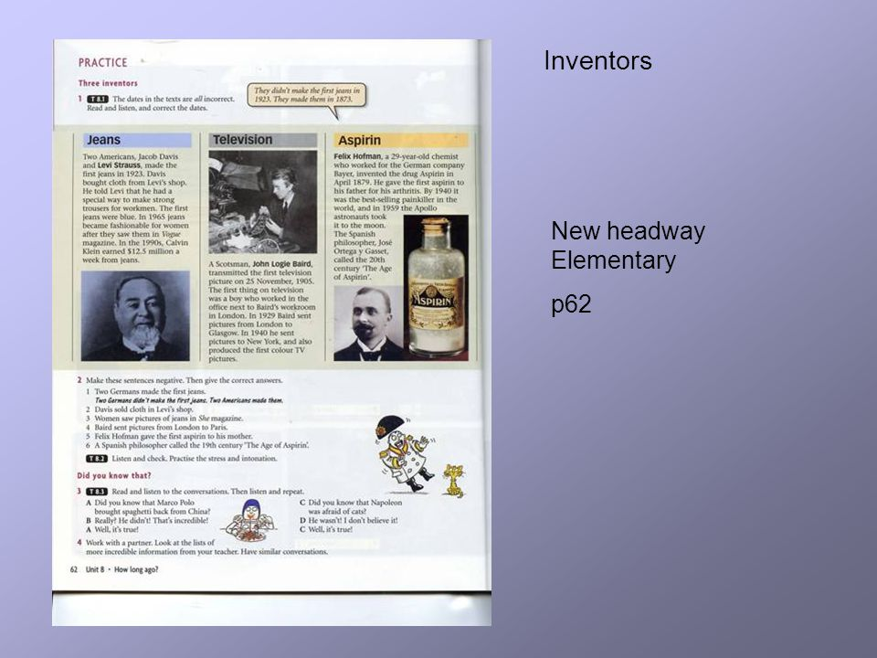 Inventors New headway Elementary p62