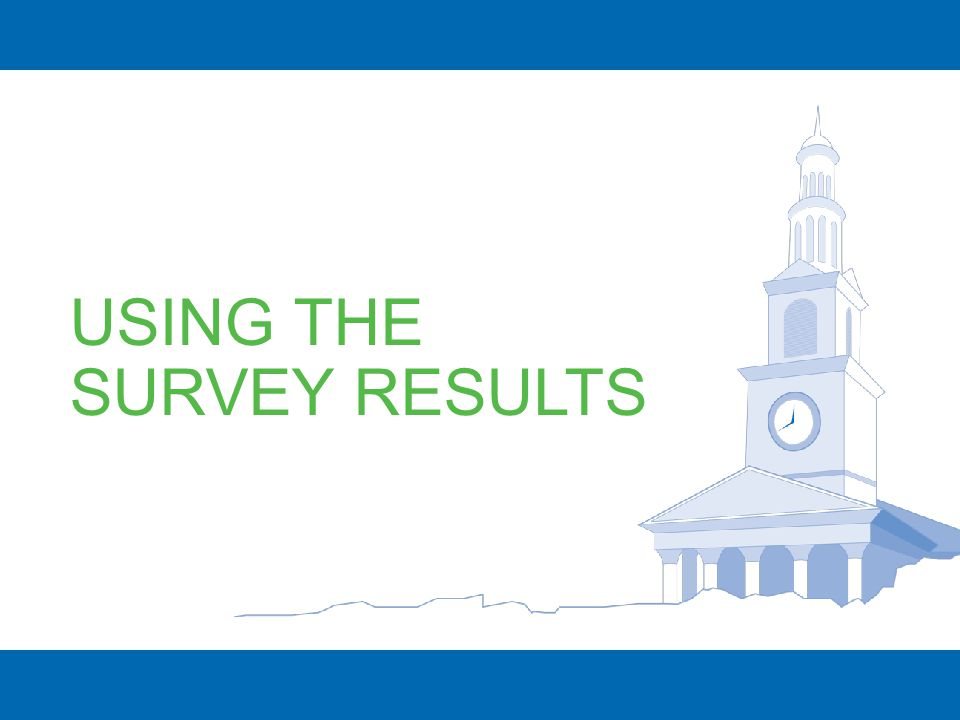 USING THE SURVEY RESULTS