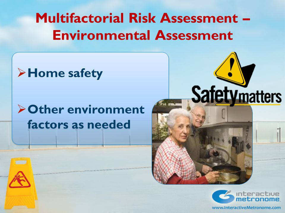 Turning the multifactorial risk assessment into an exercise program – What to do with all this information?