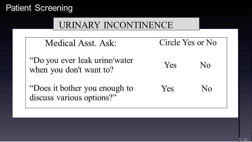 Patient Screening Medical Asst.