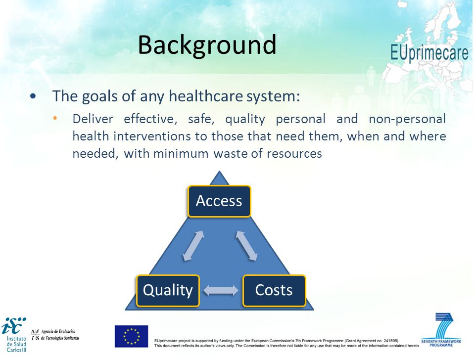 Work package 3&4: Costs of Primary Care Systems