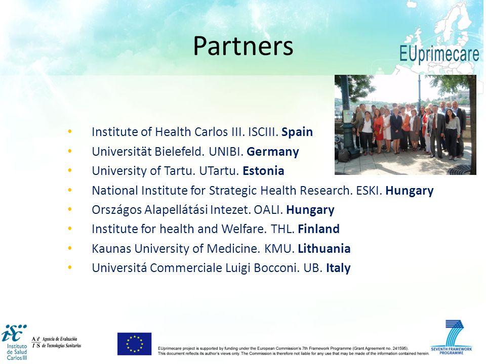 Institute of Health Carlos III. ISCIII. Spain Universität Bielefeld.