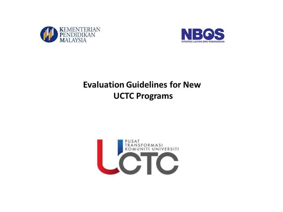 Evaluation Guidelines for New UCTC Programs