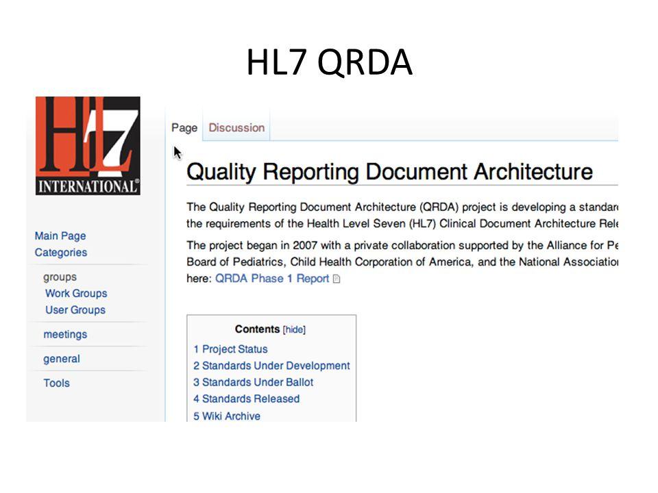 HL7 QRDA
