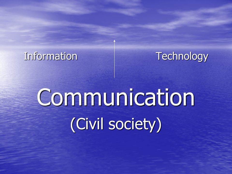 Information Technology Communication (Civil society)