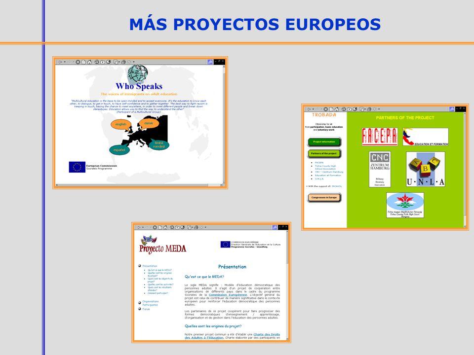 MÁS PROYECTOS EUROPEOS