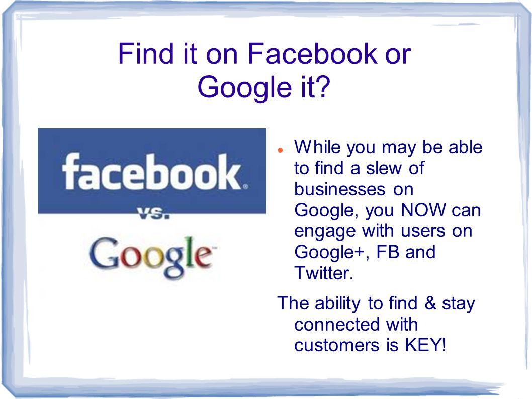Find it on Facebookor Google it.
