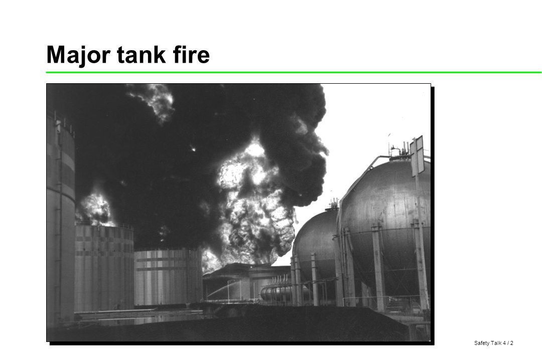 Safety Talk 4 / 3 Open top floating roof tank