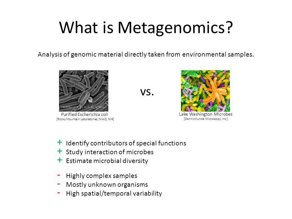 What is Metagenomics. vs.
