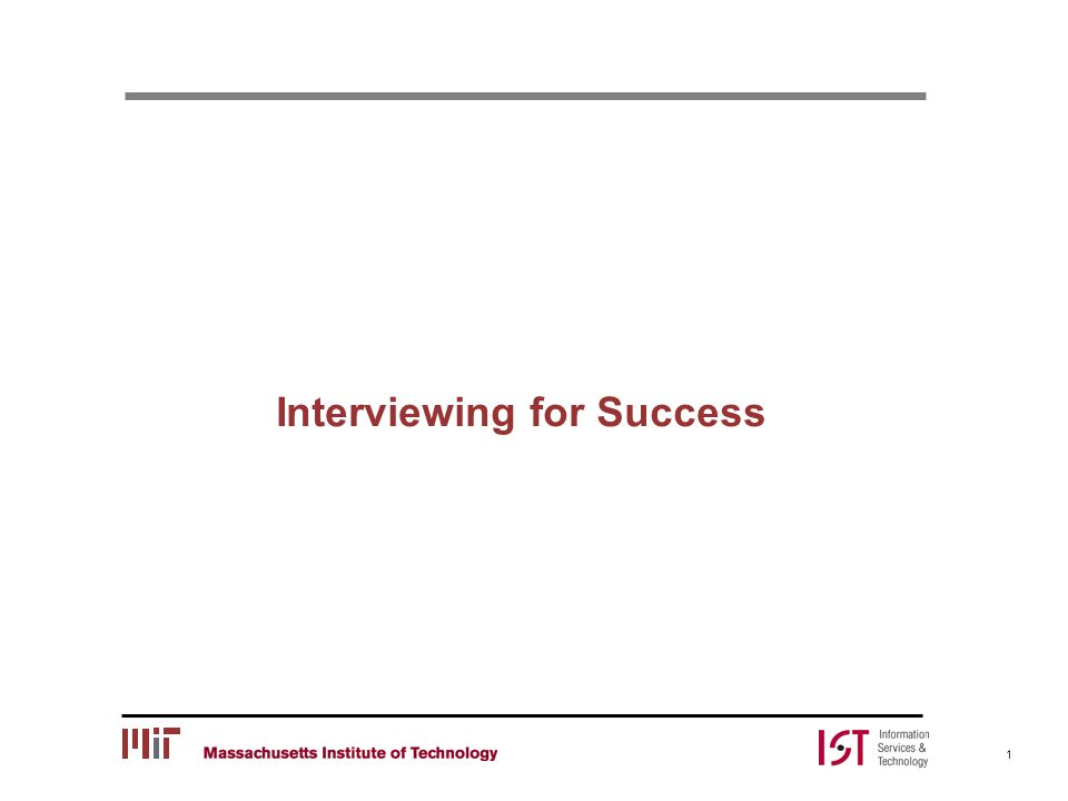 Interviewing for Success 1