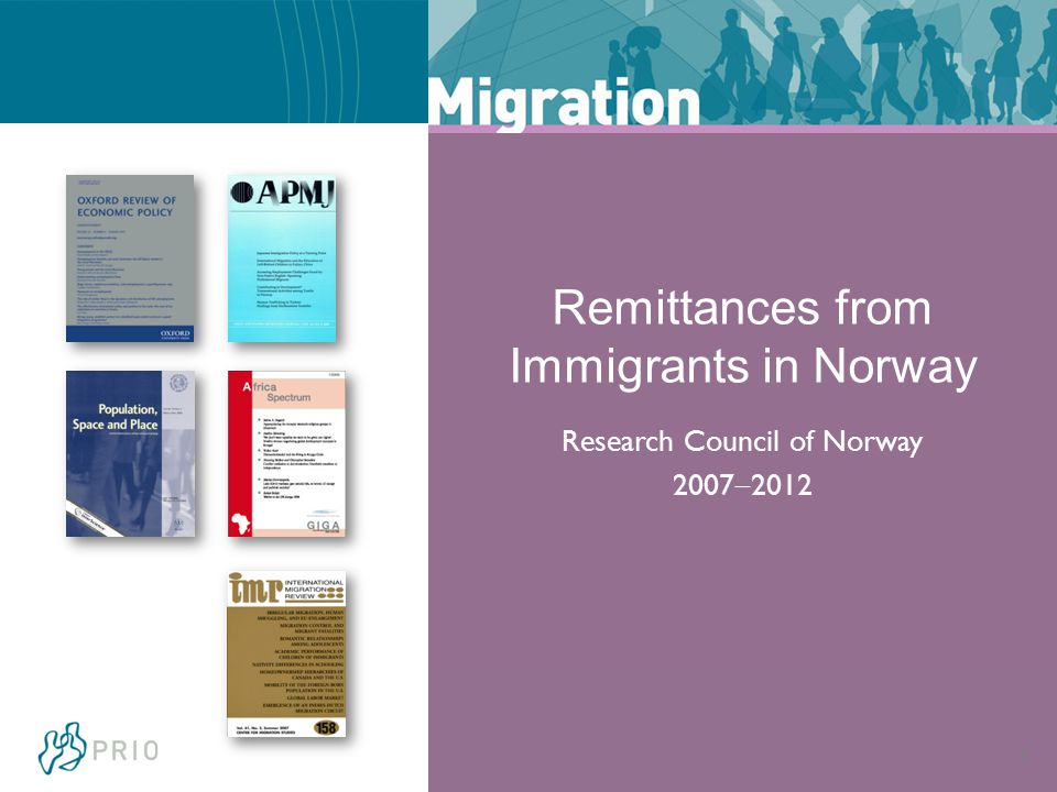 6 Remittances from Immigrants in Norway Research Council of Norway 2007  2012
