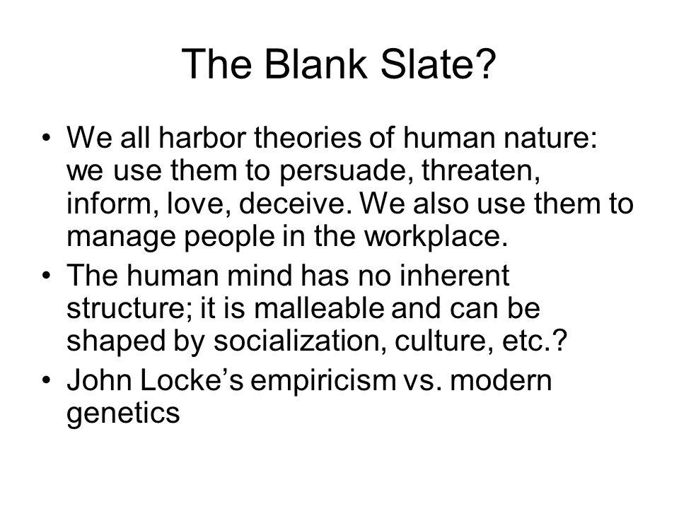 The Blank Slate.
