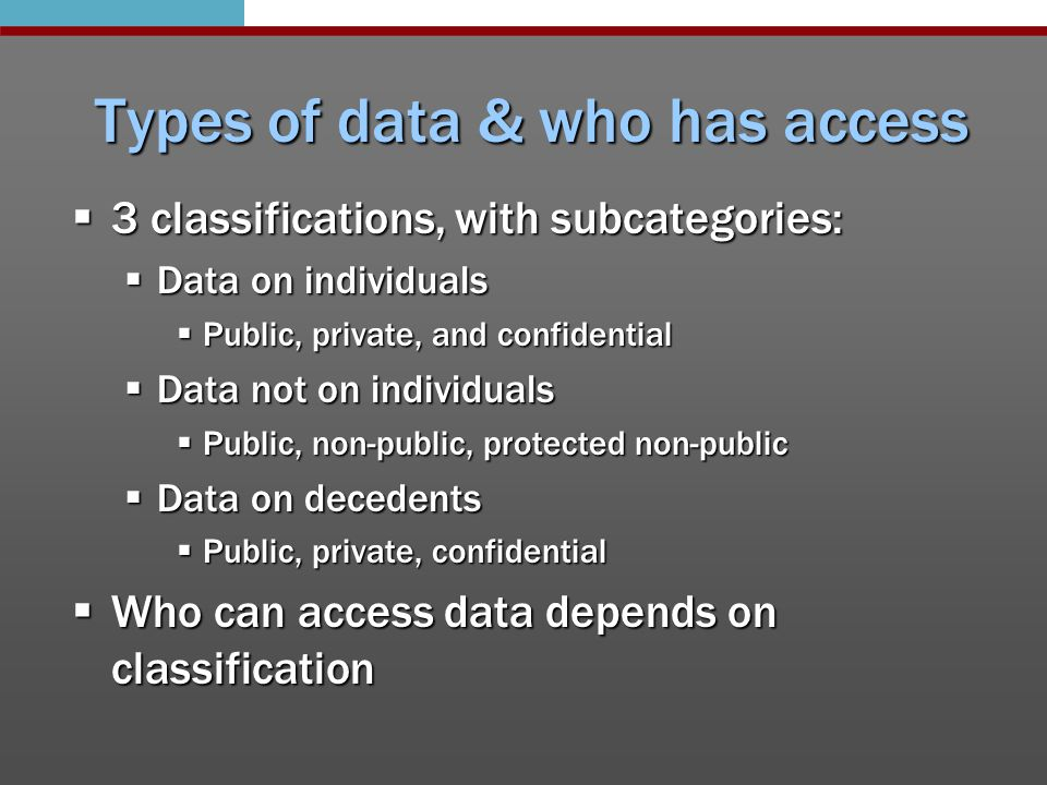 Compliance official  Designated employee  Answers questions or concerns regarding data practices issues/problems  Can be same as responsible authority