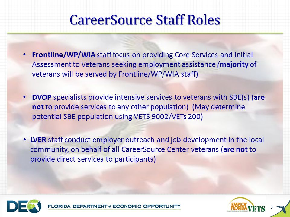 Priority of Service and WIA requires the broad definition of veteran found in 38 U.S.C.