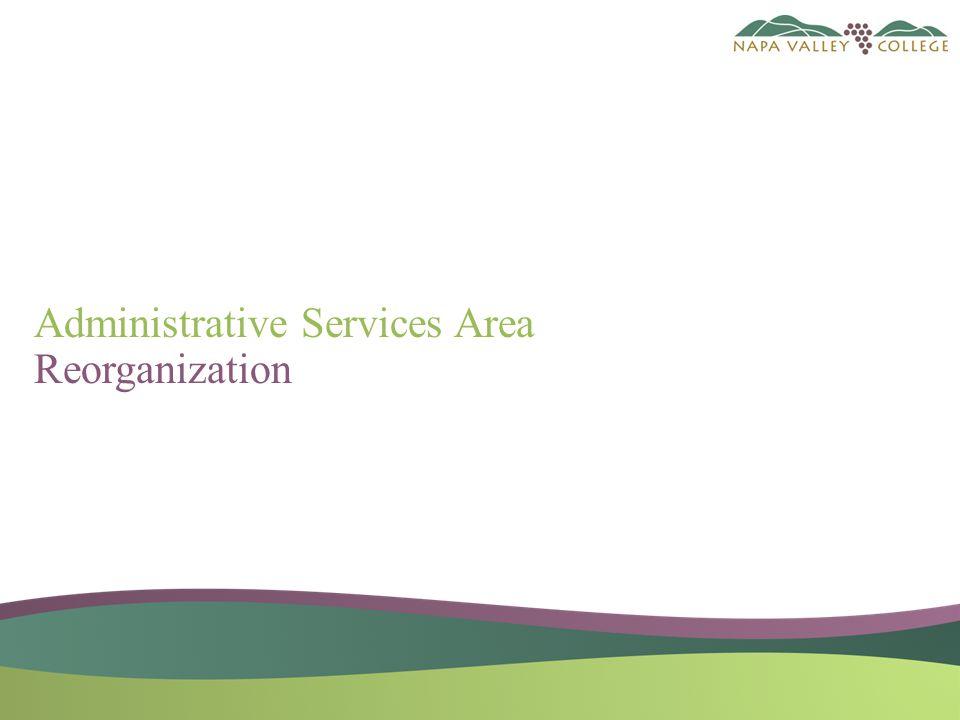 Administrative Services Area Reorganization