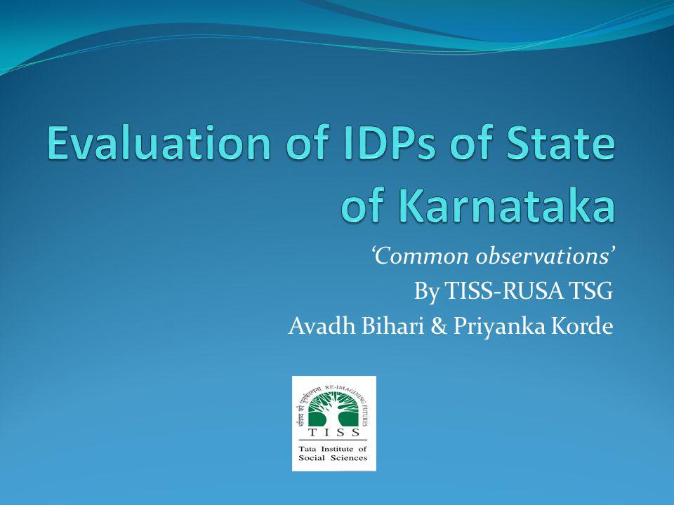 'Common observations' By TISS-RUSA TSG Avadh Bihari & Priyanka Korde