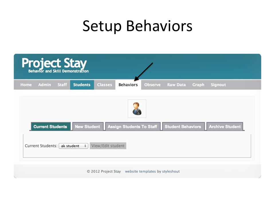 Setup Behaviors
