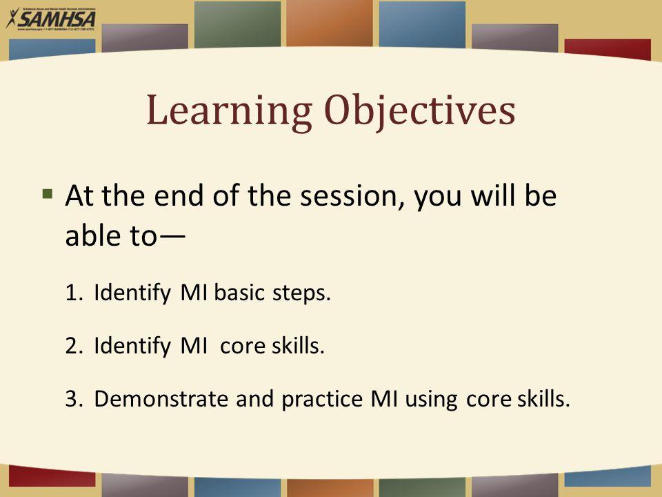 Exercise OARS in practice