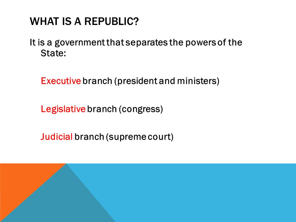 WHAT IS A REPUBLIC.