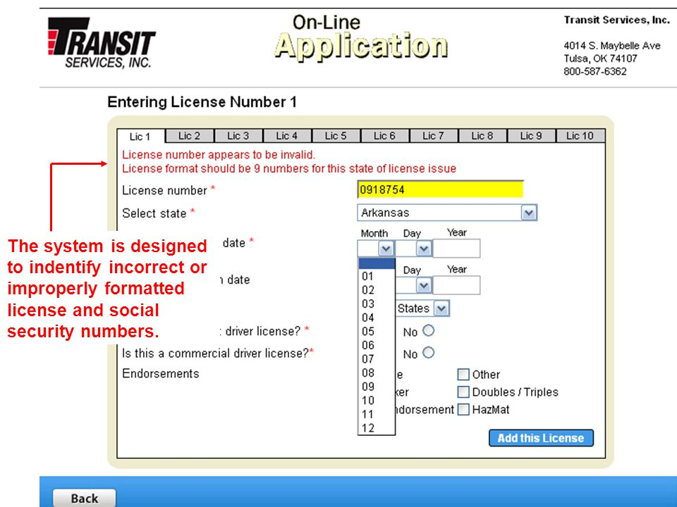 8 The application allows for easy navigation with a minimum number of sections.