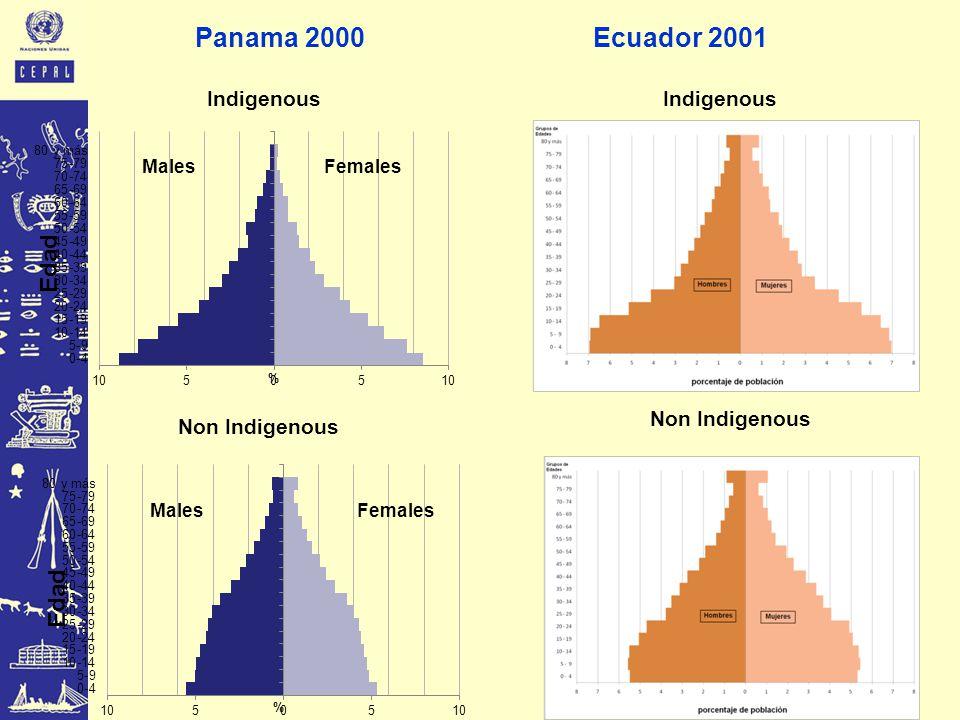Indigenous Non Indigenous Panama 2000Ecuador 2001 Indigenous Non Indigenous