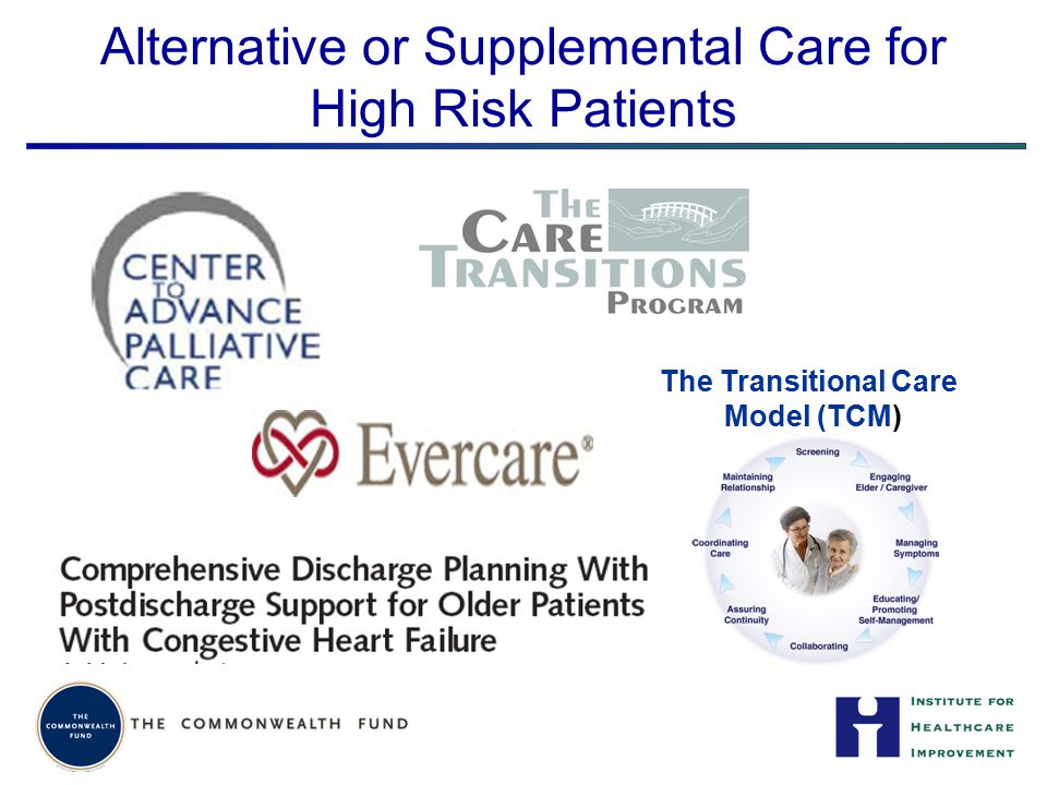 Alternative or Supplemental Care for High Risk Patients The Transitional Care Model (TCM)