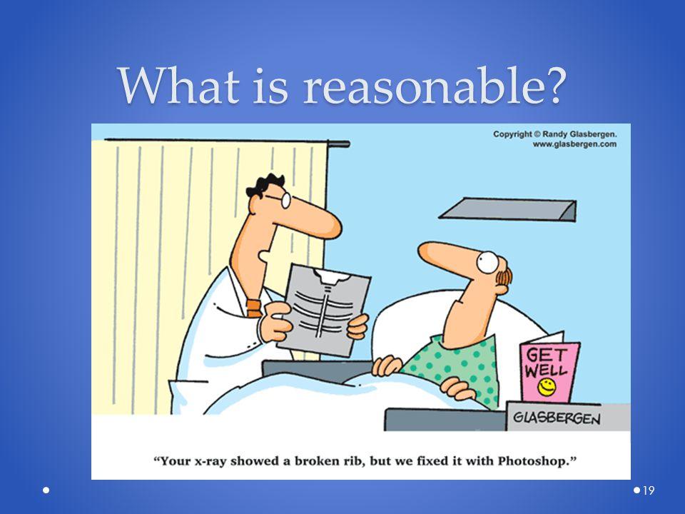 What is reasonable? 19