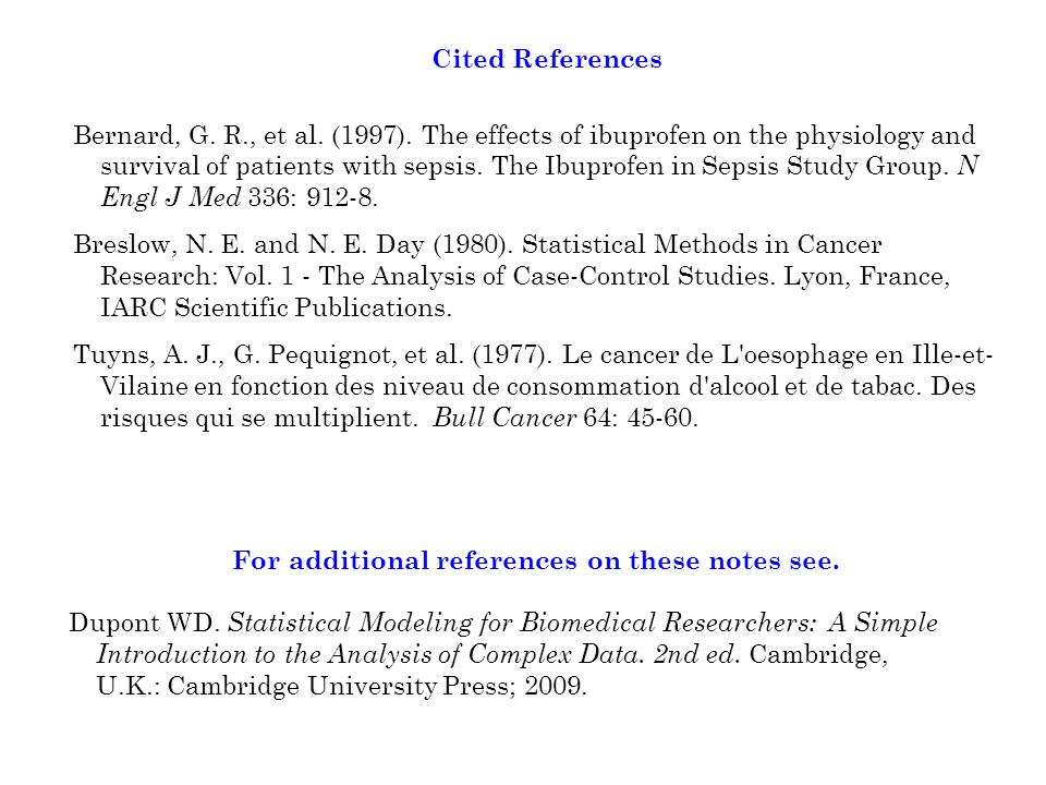 Cited References Bernard, G. R., et al. (1997).