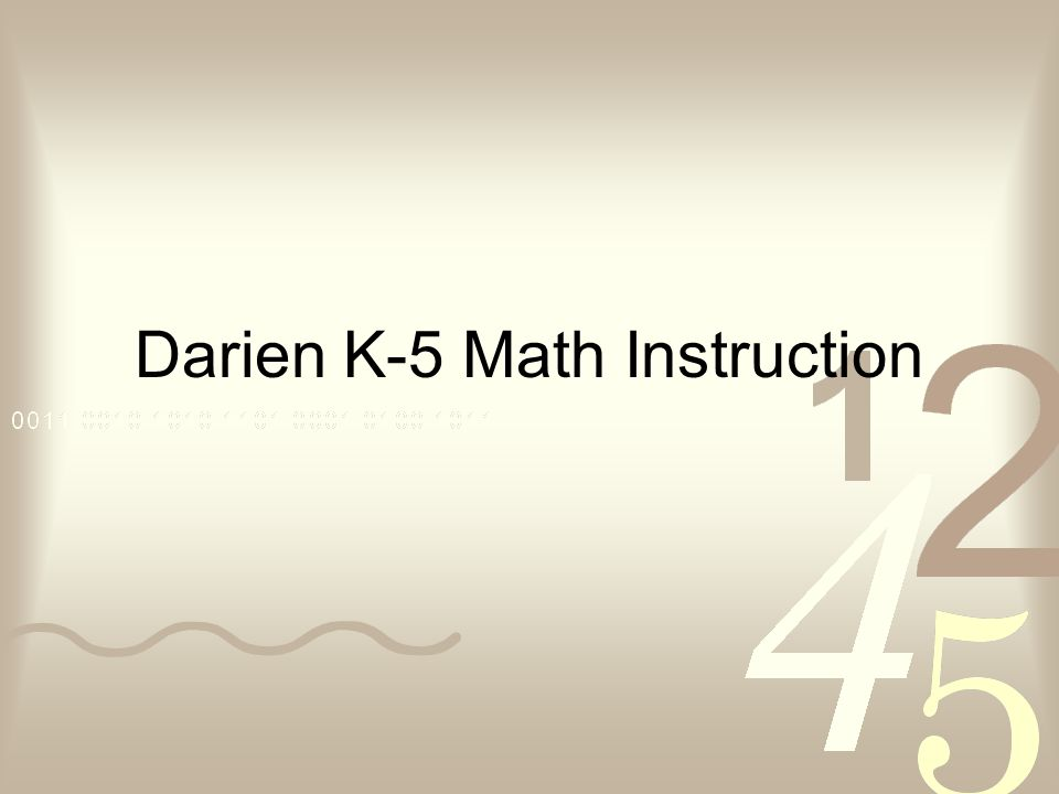 Darien K-5 Math Instruction