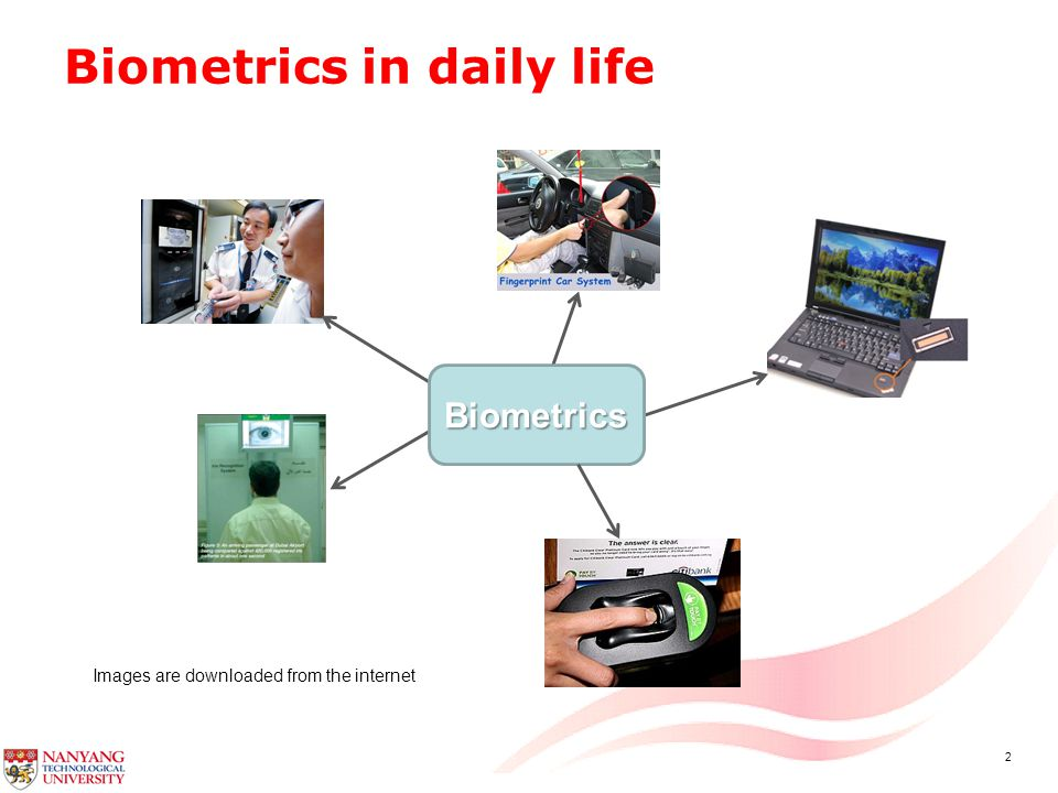 2 Biometrics in daily life Biometrics Images are downloaded from the internet