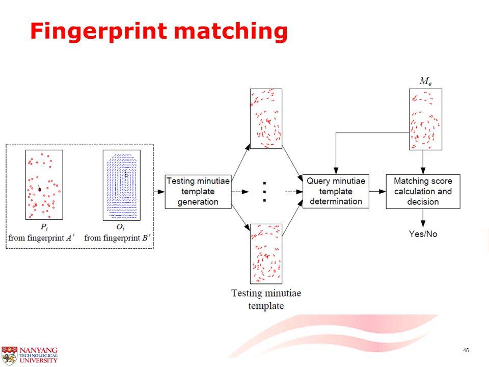 46 Fingerprint matching