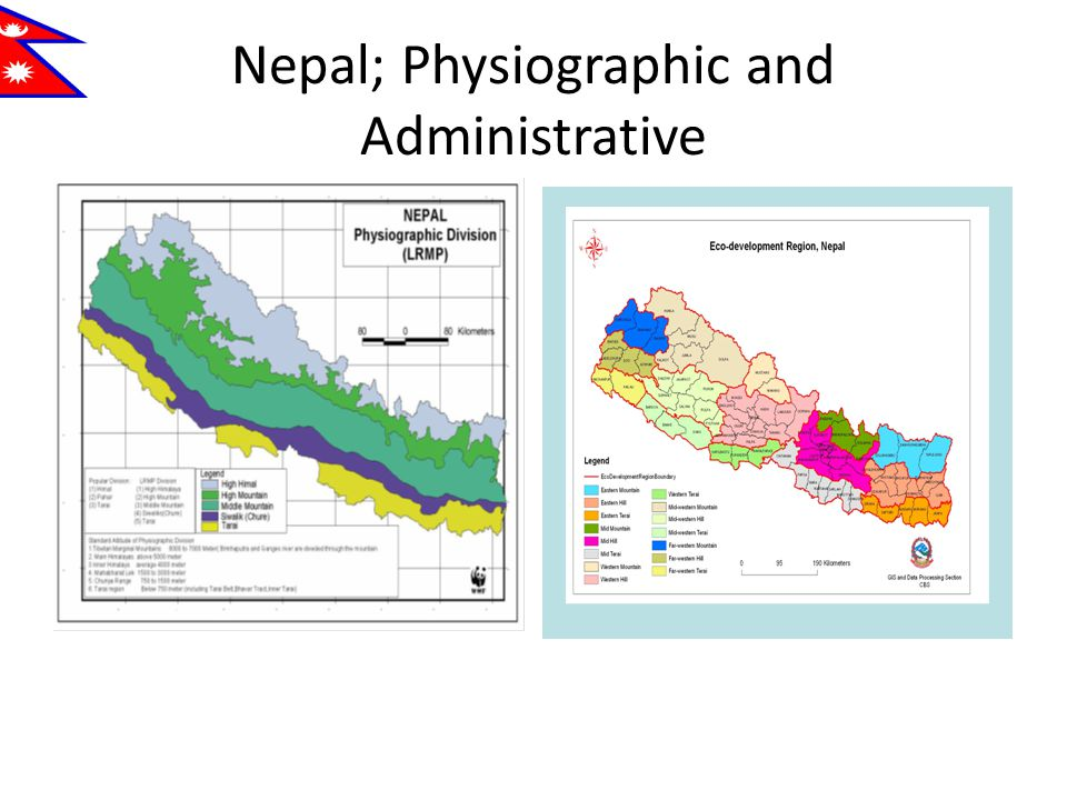 Nepal; Physiographic and Administrative