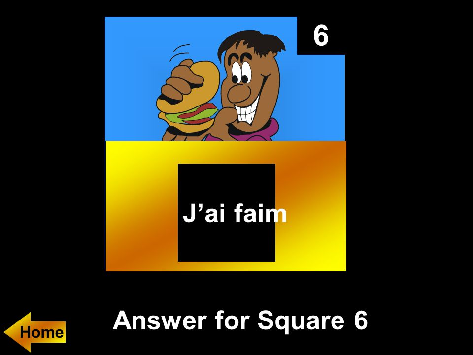 6 Answer for Square 6 J'ai faim Home