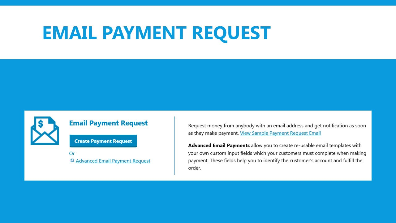 EMAIL PAYMENT REQUEST