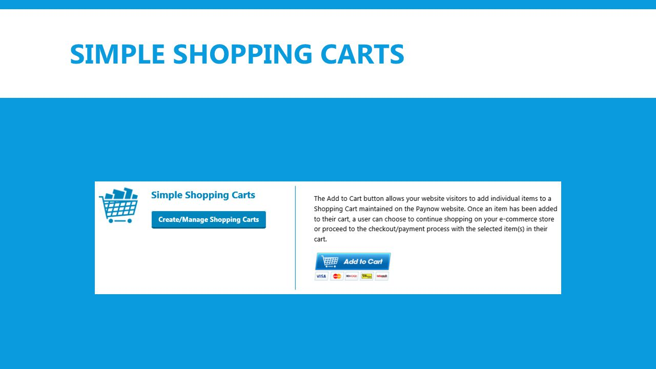SIMPLE SHOPPING CARTS