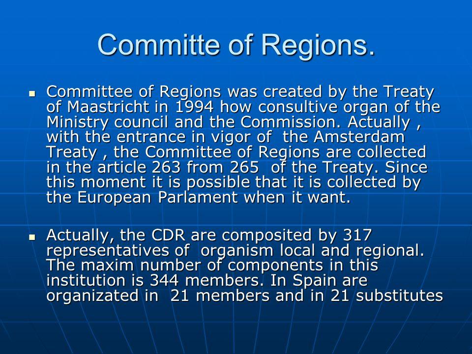 Committe of Regions.