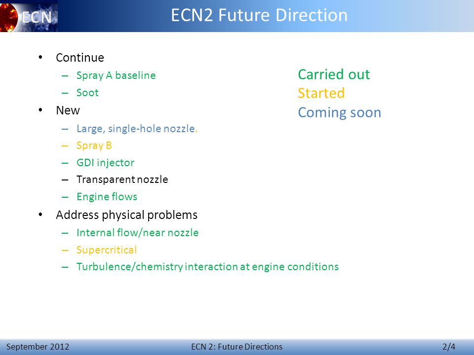 ECN 3 – Synthesis of Topic 2 13 April 4 th 2014 Topic 2: future directions.