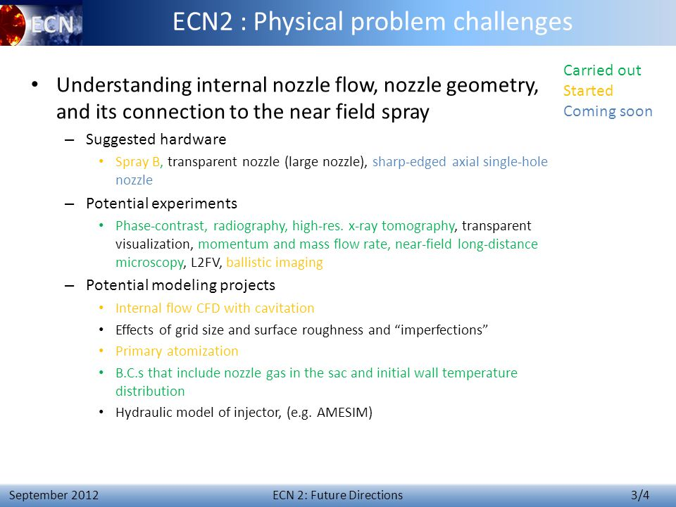 ECN 3 – Synthesis of Topic 2 14 April 4 th 2014 Topic 2: future directions.
