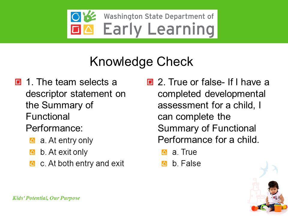 Knowledge Check 1.