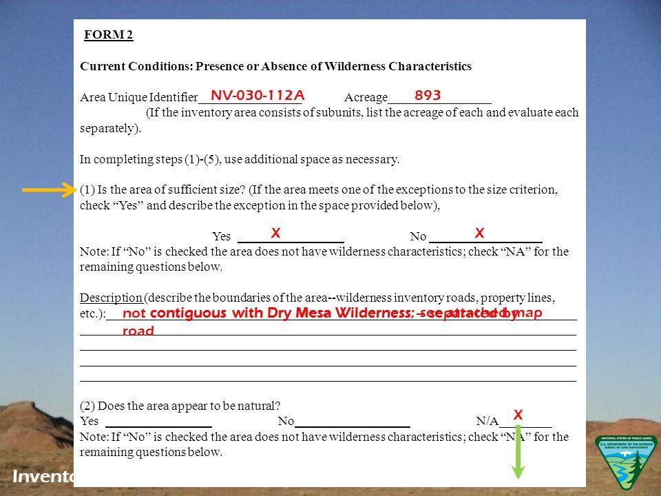 LWC Documentation Appendix B, Form 2 Inventory – Adjust & Document