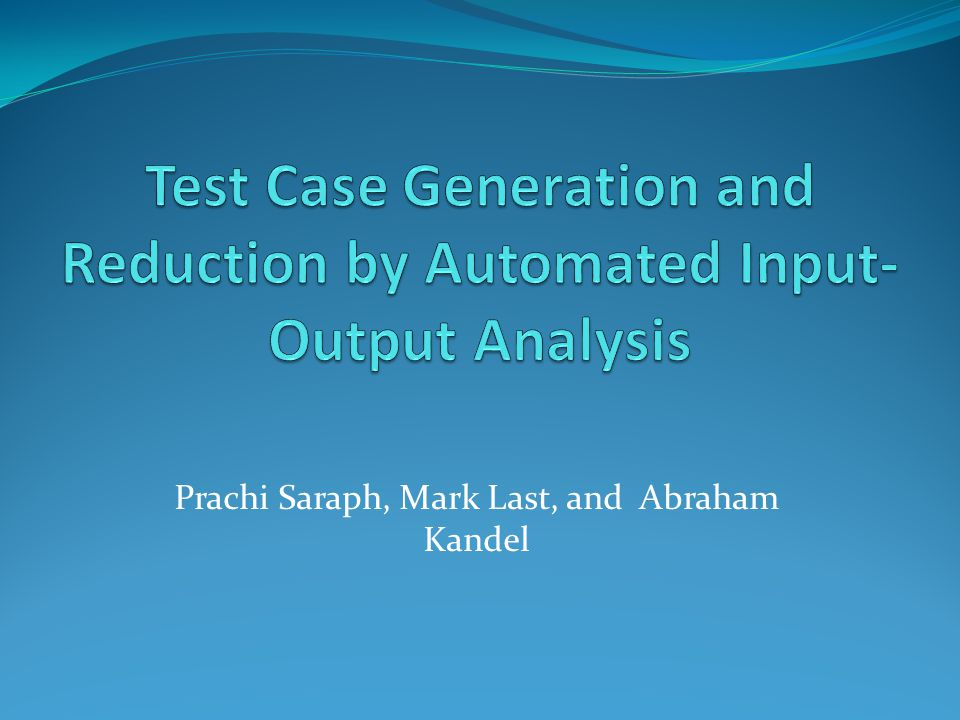 Introduction Black-Box Testing Apply an Input Observe the corresponding output Compare Observed output with expected Large Number of Inputs  Huge number of Test Cases