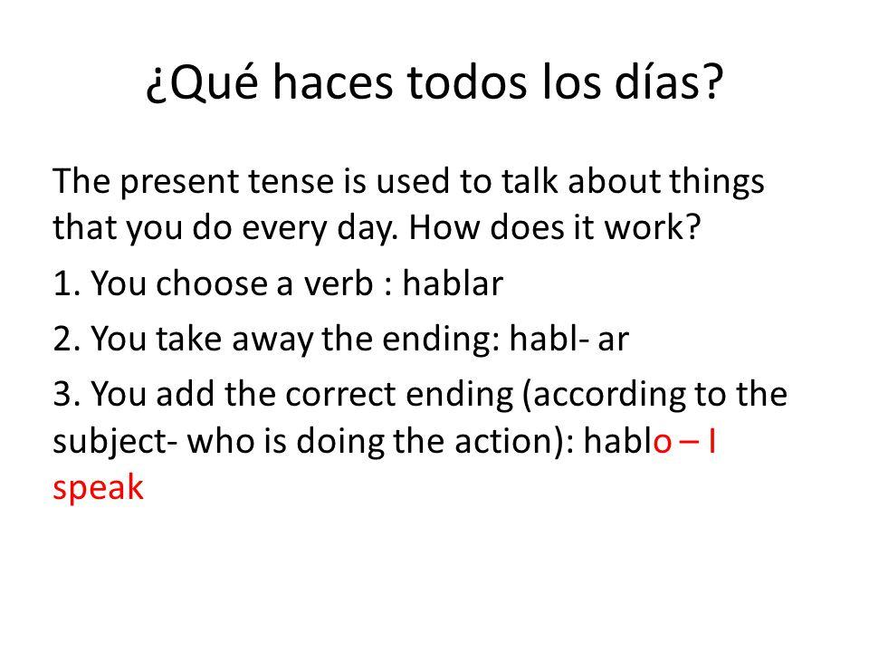 Montar/tocar/arreglar are regular verbs ending in –ar When you conjugate them, their ending are o/as/a/amos/áis/an