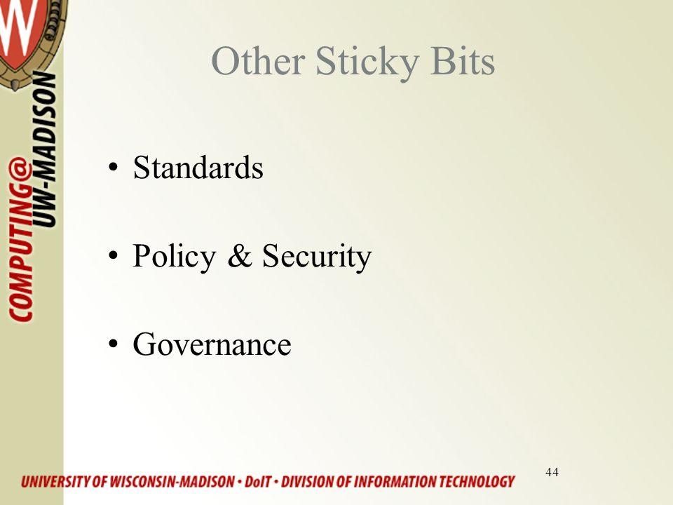 44 Other Sticky Bits Standards Policy & Security Governance