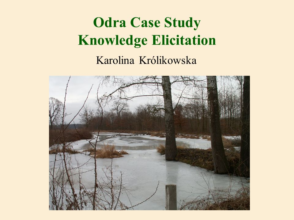 Odra Case Study Knowledge Elicitation Karolina Królikowska