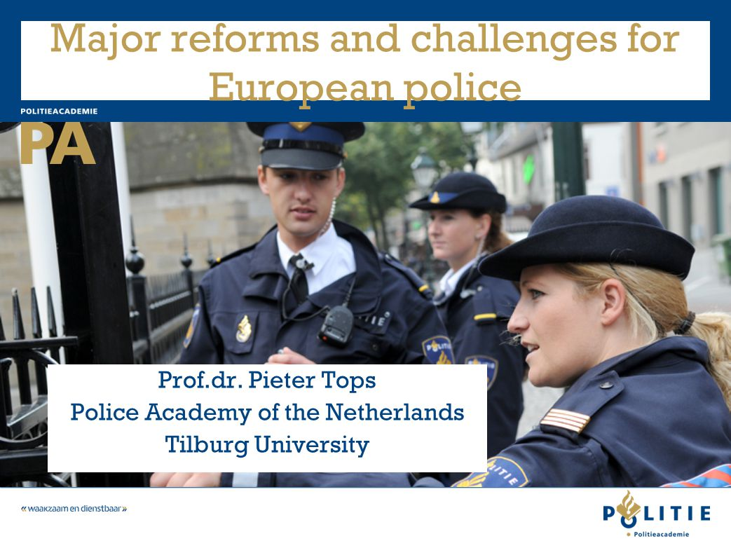 Development 6 Creating effective networks around criminal investigation –The necessity of participating in networks –Cultural change –Sharing intelligence –Coproduction with citizens, 'to catch criminals in the act' –Also internationally: 'Why is multilateral cooperation (europol, interpol) the weakest link in international police cooperation?'