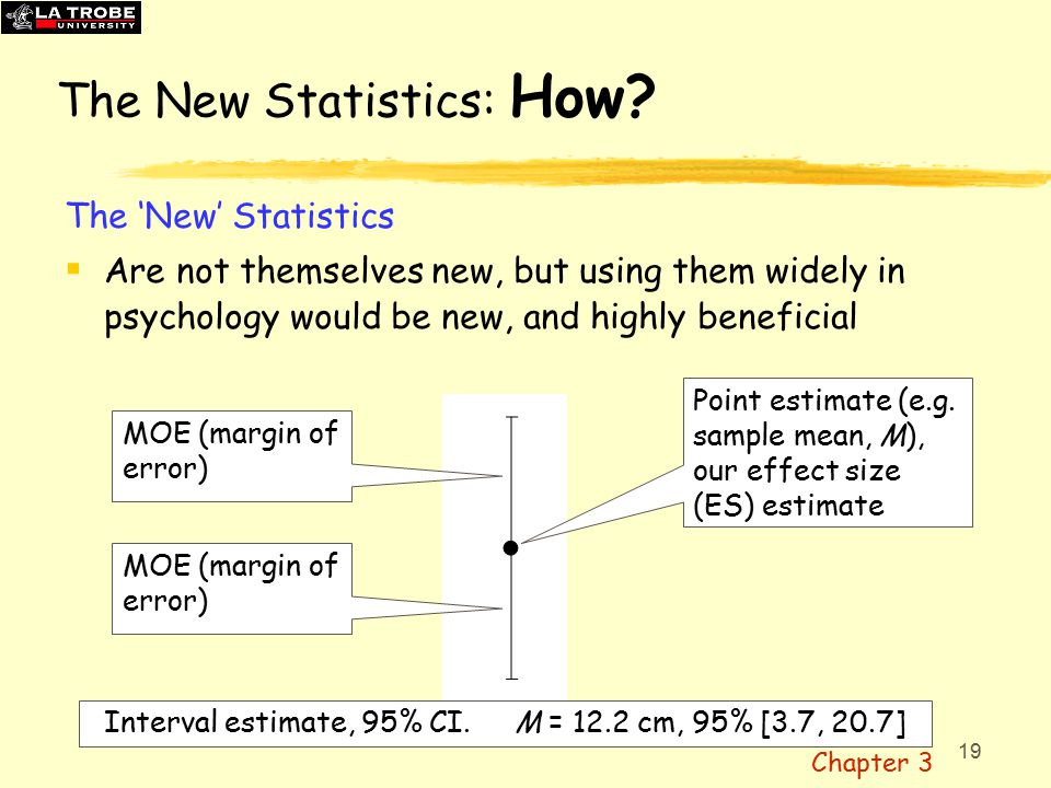 19 The New Statistics: How.