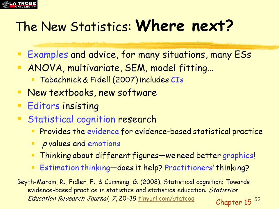 52 The New Statistics: Where next.