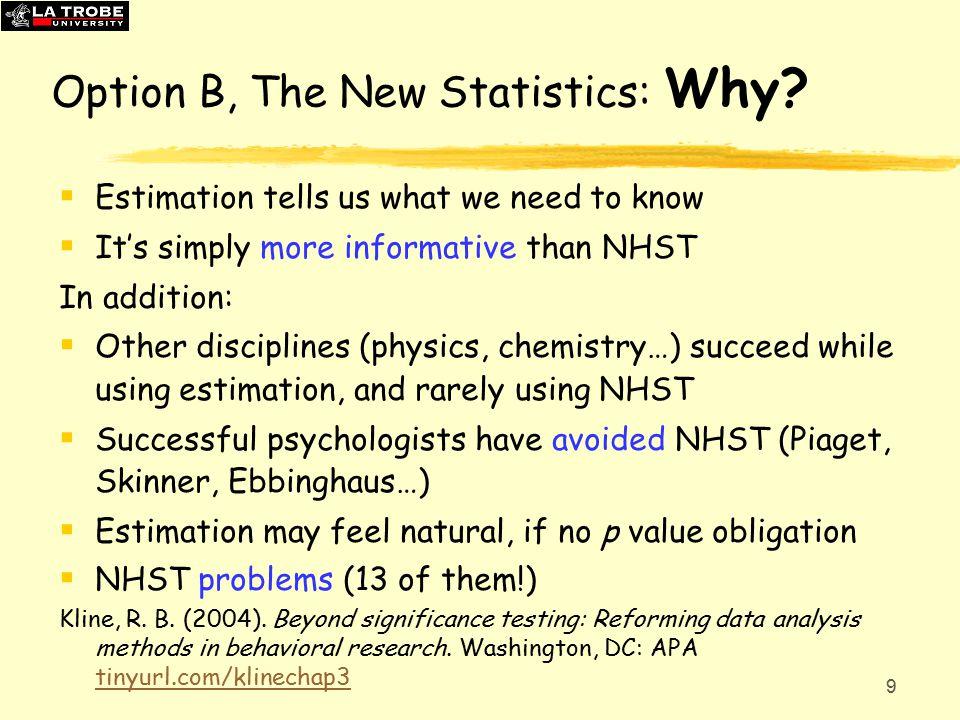 9 Option B, The New Statistics: Why.